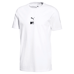PUMA x MTV Herren T-Shirt, Puma White, small
