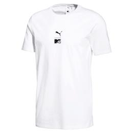 T-shirt PUMA x MTV para homem, Puma White, small