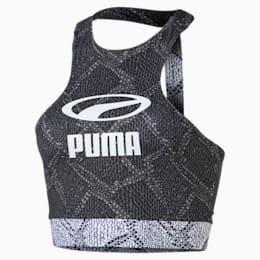 SNAKE PACK ウィメンズ クロップド トップ, Puma Black-AOP, small-JPN