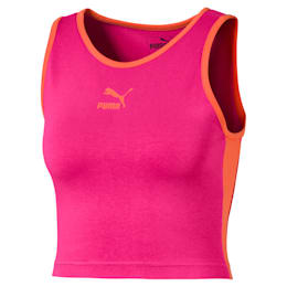 Classics T7 Cropped Women's Tank Top, Fuchsia Purple, small
