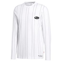 Camiseta de mangas largas PUMA 91074 para hombre, Puma White--AOP, pequeño