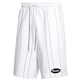 Short à rayures PUMA 91074 pour homme, Puma White--AOP, small