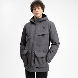Essentials Protect Men's Jacket, CASTLEROCK, small