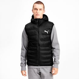 Ultralight Sleeveless Hooded Men's Vest, Puma Black, small