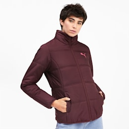 Essentials Damen Gefütterte Jacke, Vineyard Wine, small
