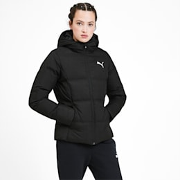 Essentials 400 Down Hooded Women's Jacket, Puma Black, small