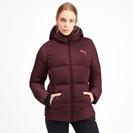 Essentials 400 Down Hooded Women's Jacket, Vineyard Wine, small