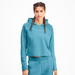 Evostripe Long Sleeve Women's Hoodie, Milky Blue, small