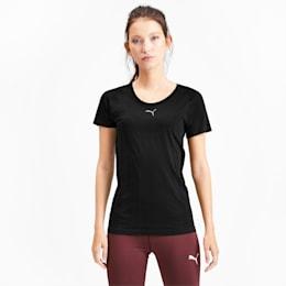 T-shirt a maniche corte senza cuciture evoKNIT donna, Puma Black, small