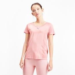 T-shirt a maniche corte senza cuciture evoKNIT donna, Bridal Rose, small