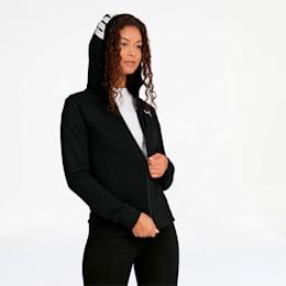 Modern Sports Women's Full Zip Logo Hoodie, Puma Black, small