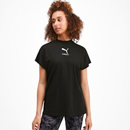 NU-TILITY Graphic Short Sleeve Women's Tee, Puma Black, small-IND