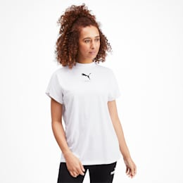 NU-TILITY Graphic Short Sleeve Women's Tee, Puma White, small
