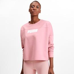 NU-TILITY Women's Cropped Crewneck Sweatshirt, Bridal Rose, small