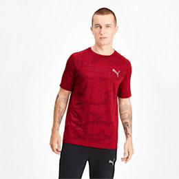 Evostripe Seamless Men's Tee, High Risk Red, small-IND
