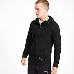 Evostripe Men's Full Zip Hoodie, Puma Black, small