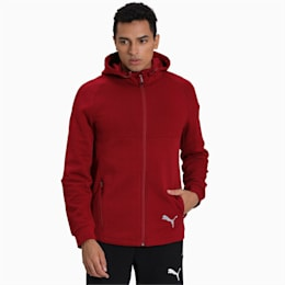 Evostripe Full Zip Men's Hoodie, Rhubarb, small-IND