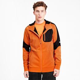 Evostripe Warm Full Zip Men's Hoodie, Jaffa Orange, small