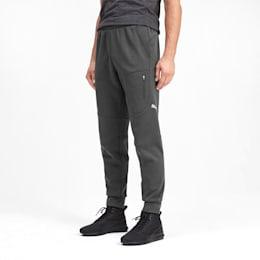 Evostripe Warm Herren Sweatpants, Dark Gray Heather, small