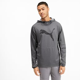 Tec Sports Cat Men's Hoodie, Medium Gray Heather, small