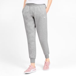 Knitted Women's Pants, Light Gray Heather, small-IND