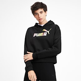 Elevated Essentials Cropped Women's Hoodie, Puma Black, small-IND