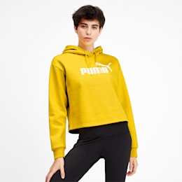 Elevated Essentials Cropped Women's Hoodie, Sulphur, small