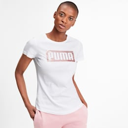 Graphic Logo Women's Tee, Puma White, small-IND