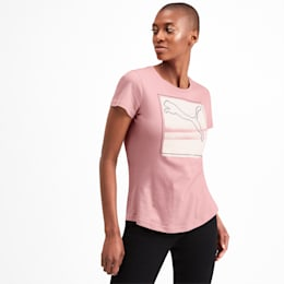 Graphic Photoprint Women's Tee, Bridal Rose, small-IND