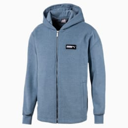 Fusion Men's Hooded Jacket, Faded Denim, small