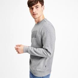 Graphic Fleece Men's Sweater, Medium Gray Heather, small-IND
