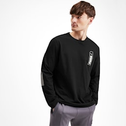NU-TILITY Long Sleeve Men's Tee, Puma Black, small-SEA