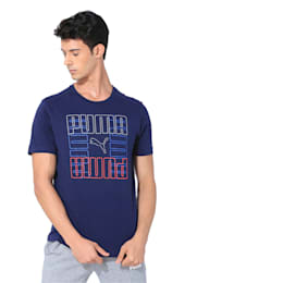 Brand Graphic Men's Tee, Peacoat, small-IND