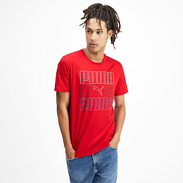 Brand Graphic Men's Tee, High Risk Red, small-SEA