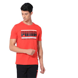 Graphic Short Sleeve Men's Tee, High Risk Red, small-IND