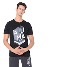Men's Graphic Effect Tee, Puma Black, small-IND