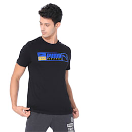 Gold Plate Brand Graphic Men's Tee, Puma Black, small-IND