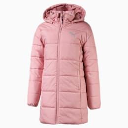 Hooded Girls' Padded Jacket, Bridal Rose, small
