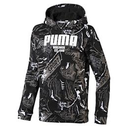 Boys' Alpha Hoodie, Puma Black, small-IND
