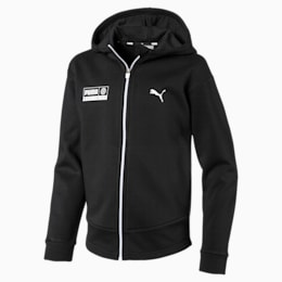 Men's Alpha Graphic Sweat Jacket, Puma Black, small-IND