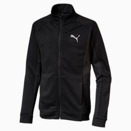 Active Sports Boys' Poly Jacket, Puma Black, small-IND