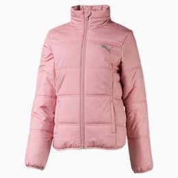 Essentials Padded Girls' Jacket, Bridal Rose, small