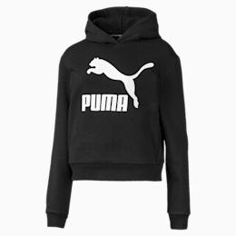 Sudadera Classics T7 con capucha para niña JR, Puma Black, pequeño