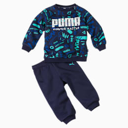Minicats Babies' All-Over Print Jogger Set, Peacoat, small