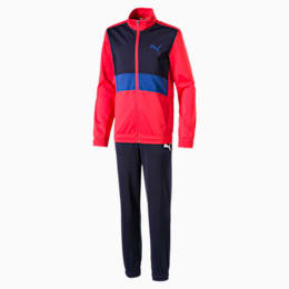Boys' Track Suit, High Risk Red, small