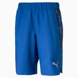 Short Alpha Sports tissé pour garçon, Galaxy Blue, small