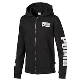 Rebel Hooded Boys' Jacket, Puma Black, small-IND