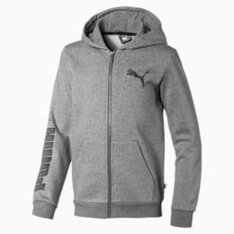 Boys' Sweat Jacket, Medium Gray Heather, small-IND