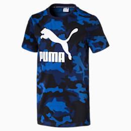 Classics t-shirt til drenge, Peacoat, small