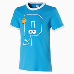 キッズ セサミストリート SS グラフィック Tシャツ (半袖), Bleu Azur, small-JPN